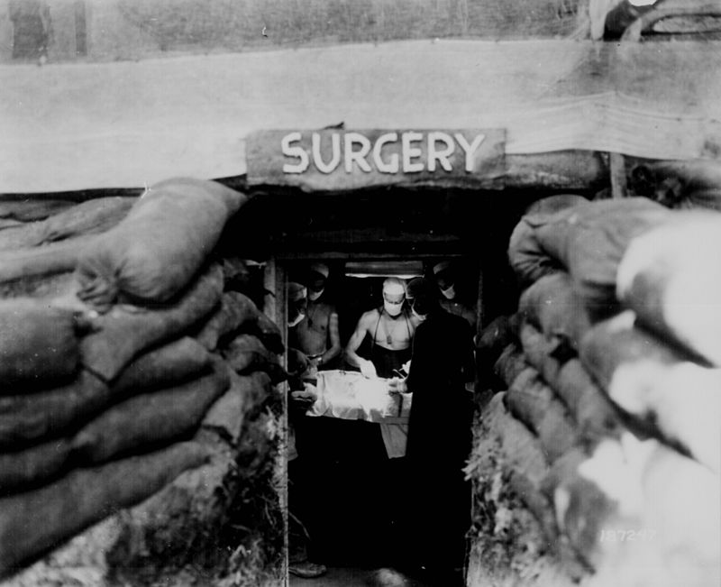 Photograph: field surgery in the Dardanelles, 1915
