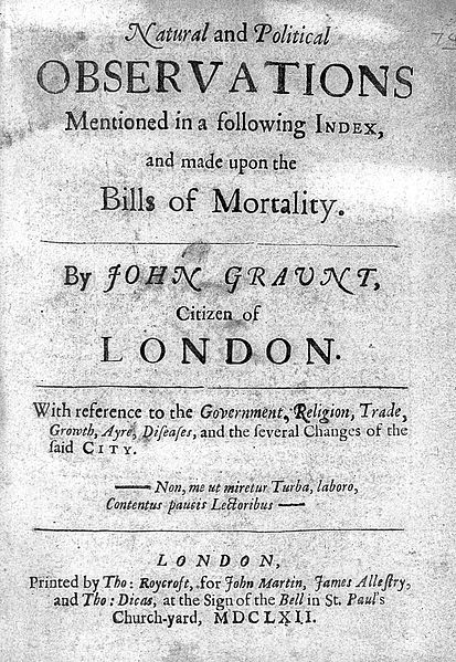 Bills of mortality John Graunt